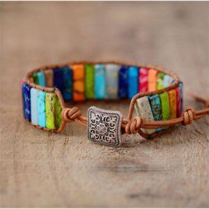 Bracelet 7 chakras lingots d'équilibre