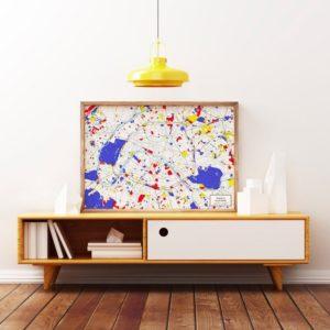 Affiches de villes style Mondrian