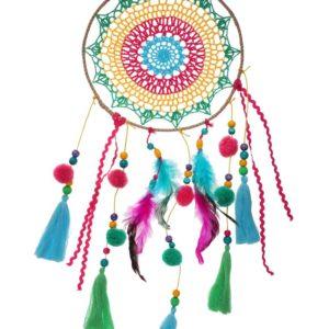 Attrape rêve mexicain multicolore