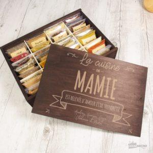 Boîte 36 Épices Mamie à Personnaliser