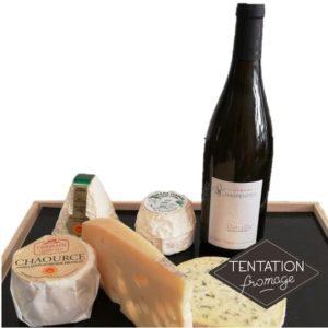 Plateau fromages et vin