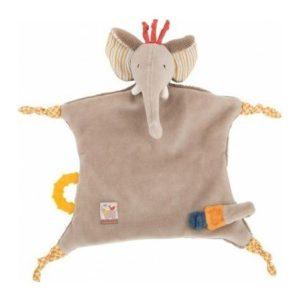Doudou attache tétine éléphant