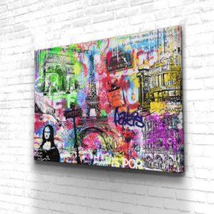 Tableau pop art Paris
