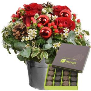 Bouquet de fleurs + Chocolats