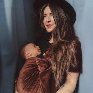 Porte bébé velours BIO