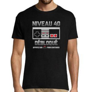 Tee shirt anniversaire Gamer