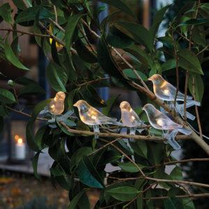 """Guirlande solaire """"oiseaux de nuit"""""""