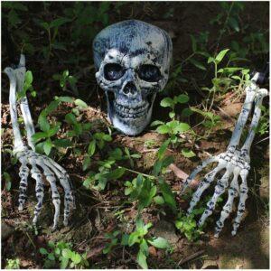 Piquets de pelouse en forme de squelette