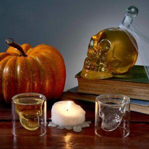 Carafe Tête de Mort avec ses 6 Verres à Whisky Crâne